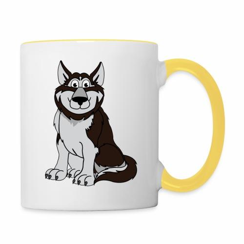 Husky - Tasse zweifarbig