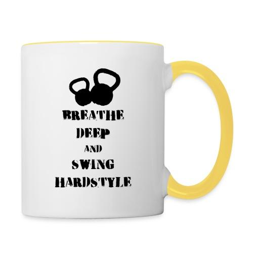 Kettlebell Breathe - Kubek dwukolorowy