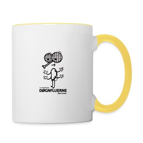 Døgnfluerne Short Comic Simpelt Logo Design. - Tofarvet krus