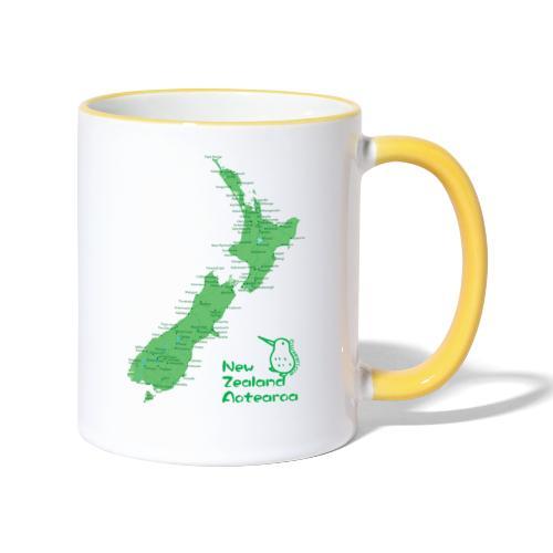 New Zealand's Map - Contrasting Mug