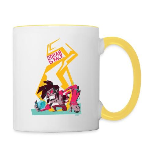 gohan dbz monkey - Mug contrasté