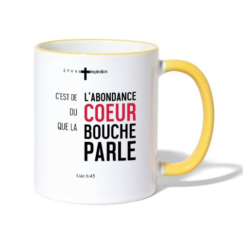Coeur - Mug contrasté