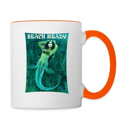 Vintage Pin-up Beach Ready Mermaid - Contrasting Mug