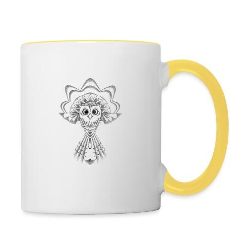 owl dotwork - Contrasting Mug