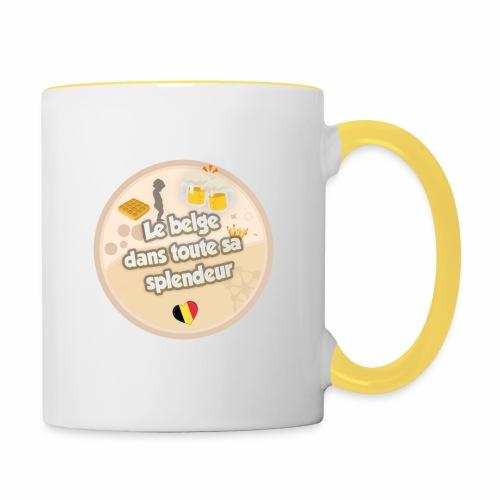 logo Le belge - Mug contrasté