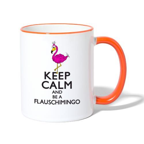 Keep calm and be a Flauschimingo - Tasse zweifarbig