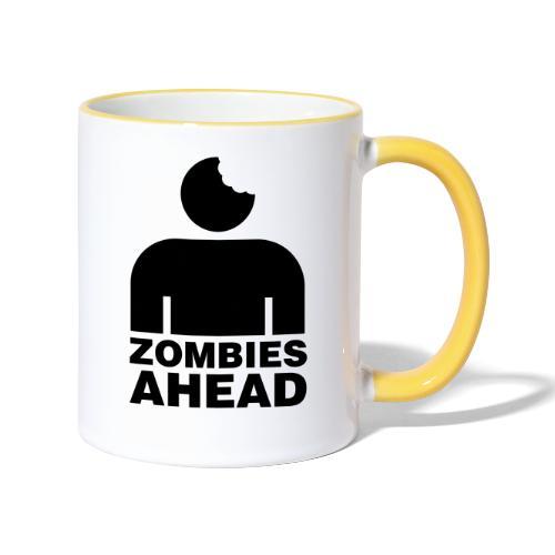 Zombies Ahead - Tvåfärgad mugg