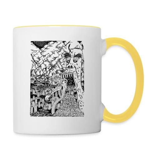 Sea Monsters T-Shirt by Backhouse - Contrasting Mug