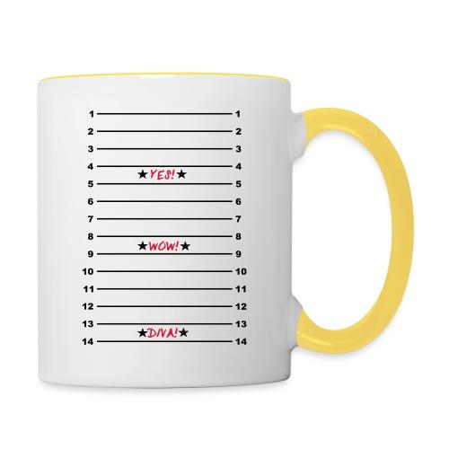 Yes Wow Diva Length Check T-Shirt - Contrasting Mug