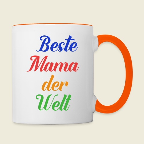 Beste Mama der Welt schön bunt - Tasse zweifarbig