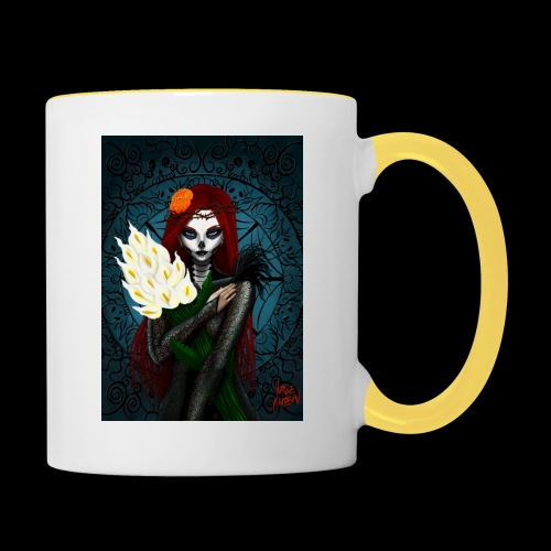 Death and lillies - Contrasting Mug