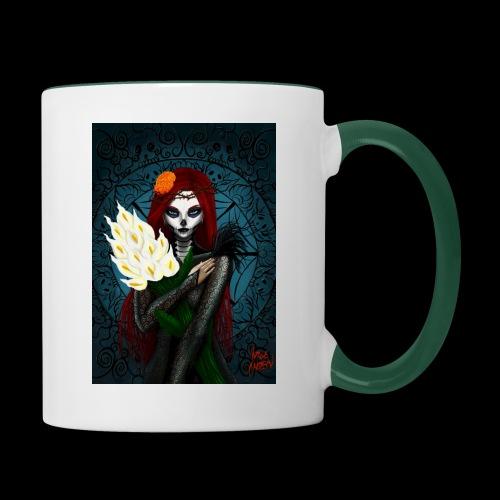Death and lillies - Contrasting Mug