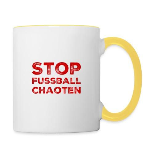 Stop Fussball Chaoten - Tasse zweifarbig