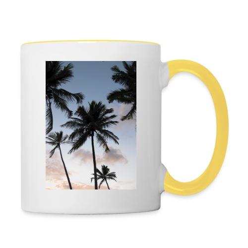 PALMTREES DOMINICAN REP. - Mok tweekleurig