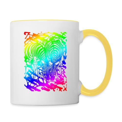 Rainbow Zebras - Kaksivärinen muki