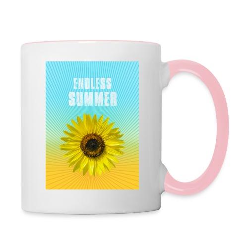 sunflower endless summer Sonnenblume Sommer - Contrasting Mug