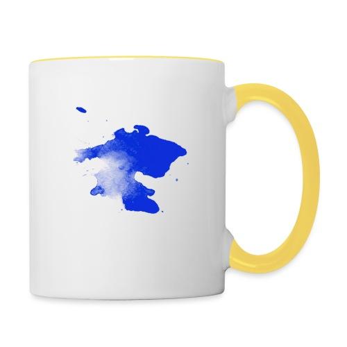 ink splatter - Contrasting Mug