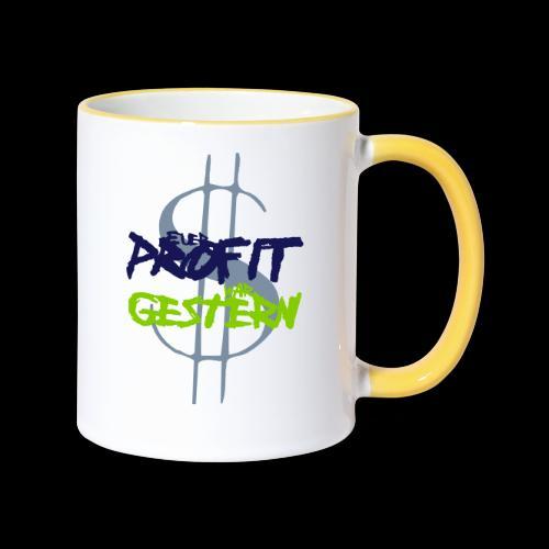 profit - Tasse zweifarbig
