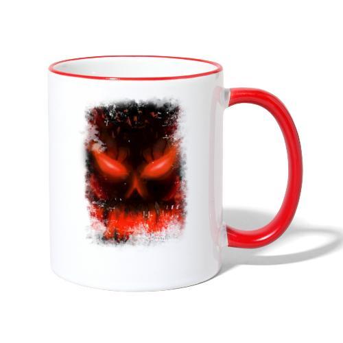 demon skull - Mug contrasté