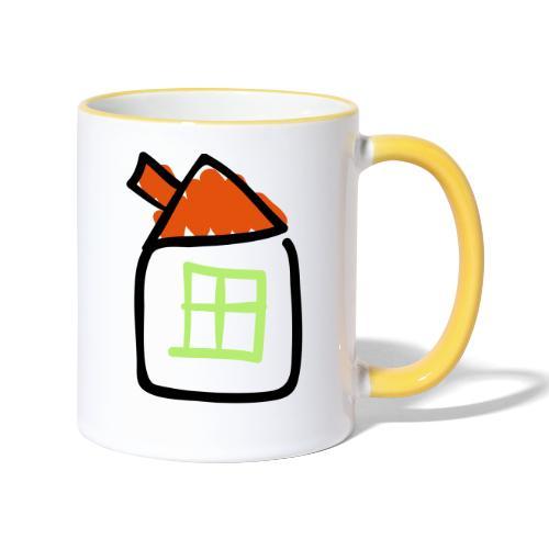 House Line Drawing Pixellamb - Tasse zweifarbig