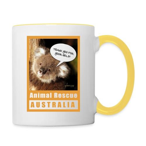 Thank You Koala - Spendenaktion Australien - Tasse zweifarbig