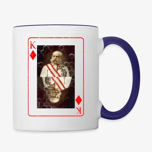 Kaiser Franz von Österreich spielkarte - Tasse zweifarbig