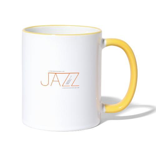 La Montaña Rusa Radio Jazz Modelo, blanco backgr - Taza en dos colores