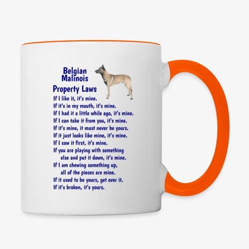 Belgian Malinois property laws - Contrasting Mug