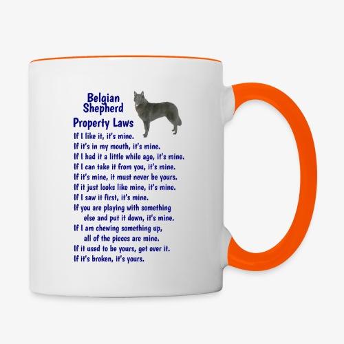 Belgian Shepherd Property laws - Contrasting Mug