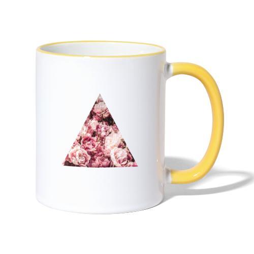 Rose triangle - Mug contrasté