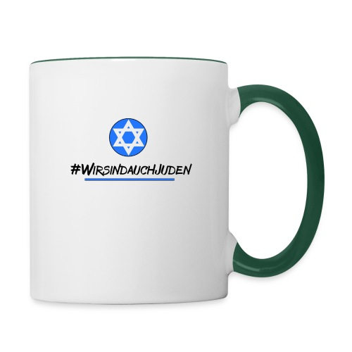 Wir sind auch Juden II - Tasse zweifarbig
