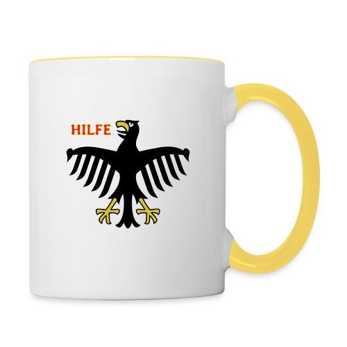 Deutschland in Not - Tasse zweifarbig