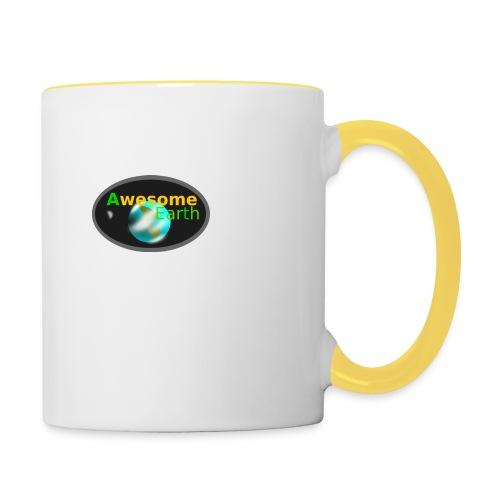 awesome earth - Contrasting Mug