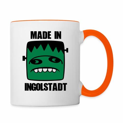 Fonster made in Ingolstadt - Tasse zweifarbig