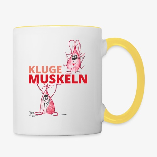 Kluge Muskeln - Tasse zweifarbig