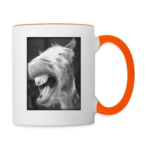 lachender Esel - Tasse zweifarbig