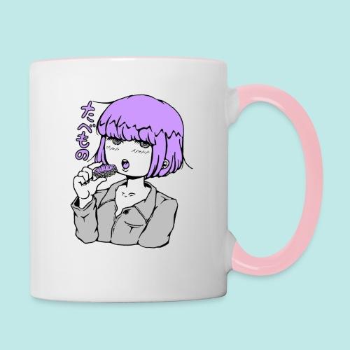 fille kawaii manga sushi japon - Mug contrasté