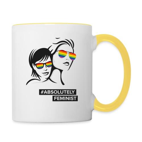 L-BEACH Rainbow Glasses - Tasse zweifarbig