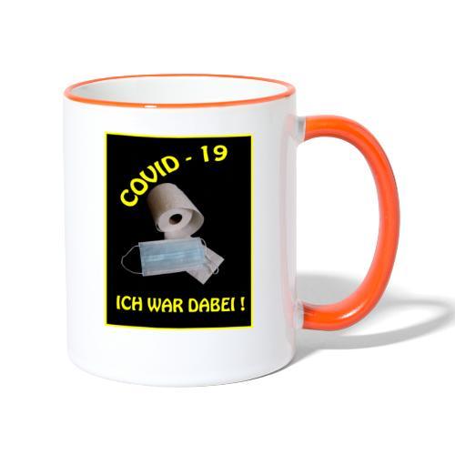 Covid19 - Tasse zweifarbig