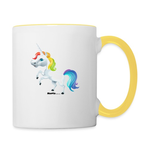 Regenbogen-Einhorn - Tasse zweifarbig