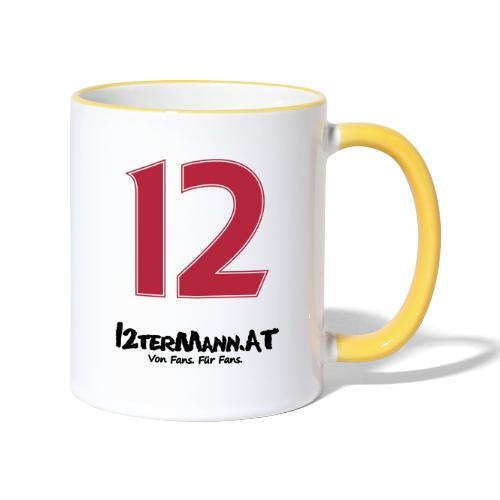 12termann mitfans - Tasse zweifarbig