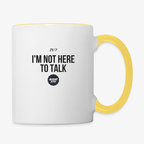talk - Tasse zweifarbig