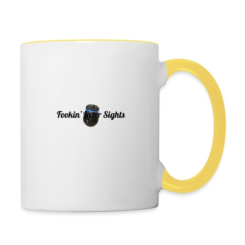 'Fookin' Laser Sights' - Contrasting Mug