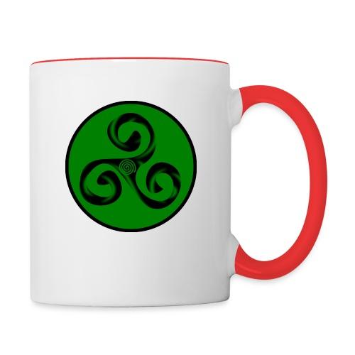Triskel and Spiral - Taza en dos colores