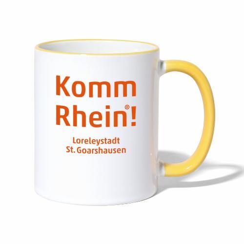 Komm Rhein! Loreleystadt St. Goarshausen - Tasse zweifarbig