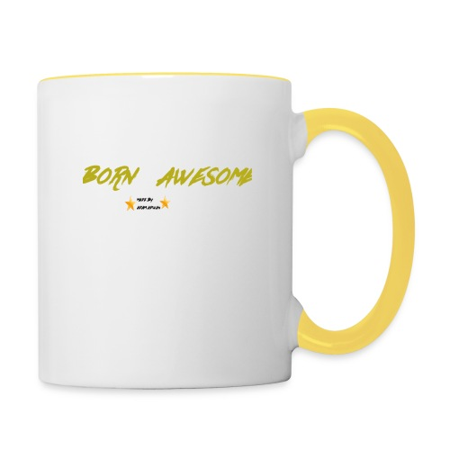born awesome - Contrasting Mug