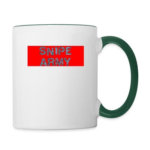 Snipe Army Box Logo - Tasse zweifarbig