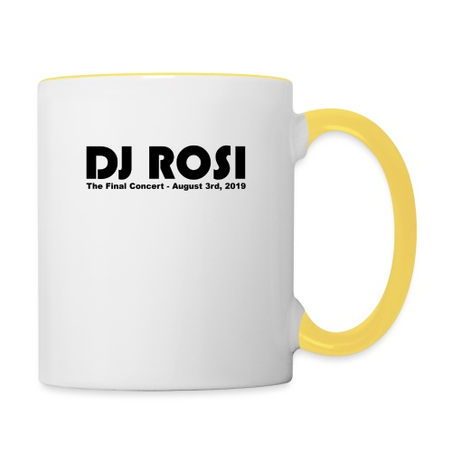DJ ROSI - The Final Concert. - Tasse zweifarbig