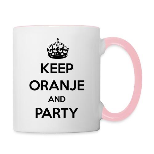 KEEP ORANJE AND PARTY - Mok tweekleurig