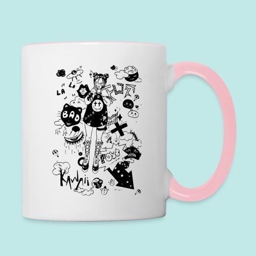 japanese girl : mess idea - Mug contrasté